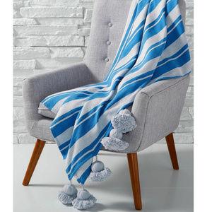 Martha Stewart Throw Cotton Blanket Huge Tassels